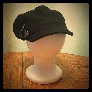 Kate Landry Black Small Bill Hat